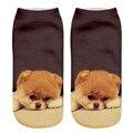 Новая мода носки женщины 3D прекрасный Cat Печатных леди девушка Случайные носки Мужская Low Cut Носки Лучшие продажи calcetines mujer #49