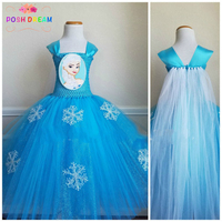 POSH DREAM Queen Elsa Dress New Arrival Dresses Girls Princess Anna Elsa Cosplay Costume Kid's Party Dress Kids Girls Clothes