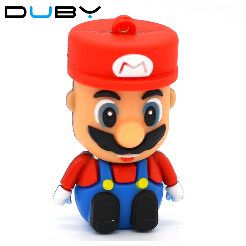 Super Mario Usb Flash Drive Gifts Cartoon Pen Drive 2gb 4gb 8gb 16gb 32gb 64gb Flash  Pendrives Memory Usb Stick