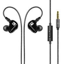 Okcsc F90 Double Driver Dynamic In-Ear Наушники, Шум-изоляции высококачественный аудио и глубокий бас стерео наушники с микрофоном