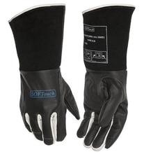 Black SOFTouch Argon Arc Welder TIG MIG MMA Grain Cow Leather Welding Work Gloves