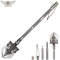 ALMIGHTY EAGLE профессиональная тактическая многофункциональная лопата для выживания на открытом воздухе, складной инструмент и тяжелое снаряже...