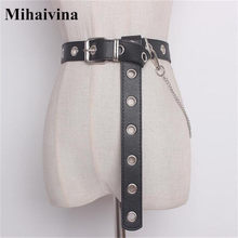 Mihaivina Fashion Punk Hip-hop Belt Chain Men Pants Hollow Waist Strap Casual Retro Women Jeans Alloy For Clothing Accessories(China)
