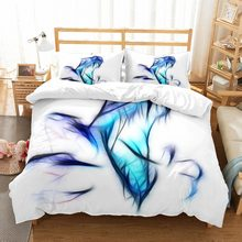 Virtual Dinosaur Blue White Bedding Set with Zipper Toddler Girl Comforter Set Queen King Doule Size Duvet Cover Set for Home(China)