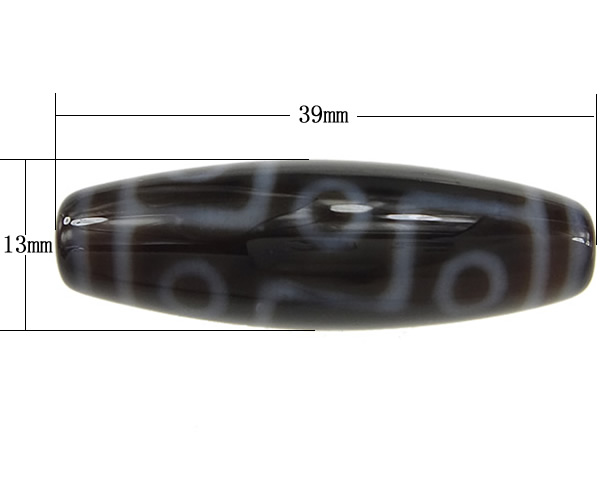 Amulet 9 Eyes Pattern AAA Grade Agate Natural Tibetan Dzi Beads Oval 13x38mm Hole:Approx 2mm Free Shipping