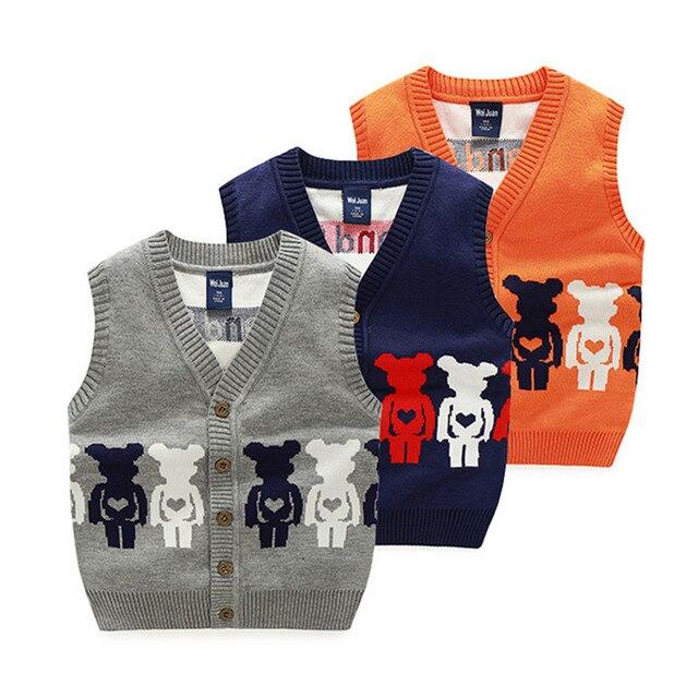 0895b6108 Sweaters Kids V-neck Sweater Vest Children Sweater Patterns Abrigo Trui  Knitted Sleeveless Cardigan Vest Baby Boy Spring 70J108