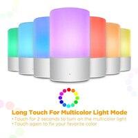 RGB Escurecimento Lâmpada de Cabeceira inteligente Toque Sensor de Luz LED Noite Atmosfera Lâmpada LED Nightlight Inteligente Para As Crianças