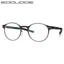Titanium Alloy Glasses Frame Women Round Eyeglasses Ultra light slim Myopia Prescription