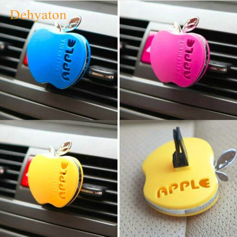 Dehyaton Auto Car Air Freshener Outlet Perfume Scent Interior Apple Shape Aromatherapy Fashion Car Air Freshener Car Styling