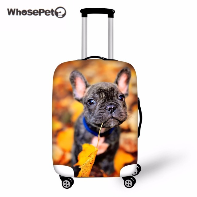e5e271464c884 WHOSEPET buldog francuski skrzynki pokrywa bagażu ochronna elastyczne  pokrowce torby Kawaii pokrowiec na walizkę dla kobiet