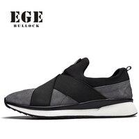 Ege 브랜드 캐주얼 남성 신발 새로운 도착 패션 빛 남성 플랫 슬립 이탈리아어 디자인 세련된 통기성 신발 남성