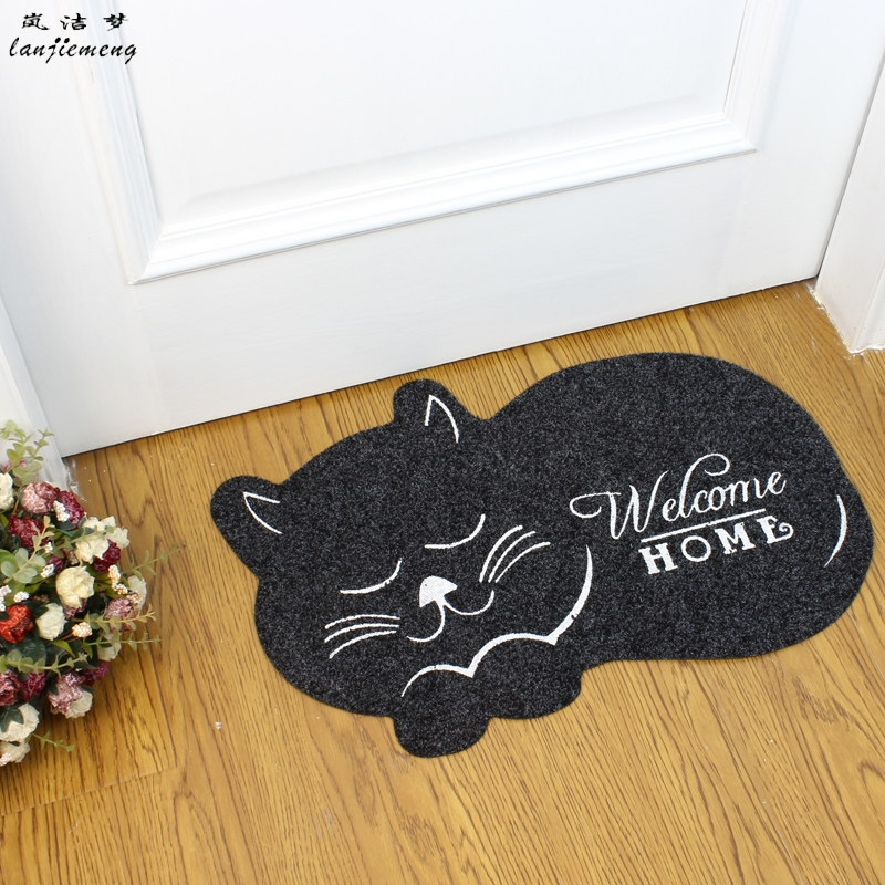 Cat Shape Floor Mat 40 60cm Anti Slip Floor Kitchen Carpet