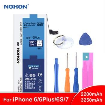 Originale NOHON Per il iphone 6 Più 6 6 S 7 Batteria di Ricambio Per iPhone6 iPhone7 Ad Alta Capacità Bateira Batterie Del Telefono strumenti gratuiti