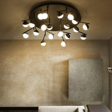 LED Postmodern Nodic Iron Aluminum Acrylic Molecule Chandelier Lighting LED Lamp LED Ligh For Foyer Bedroom Dinning Room
