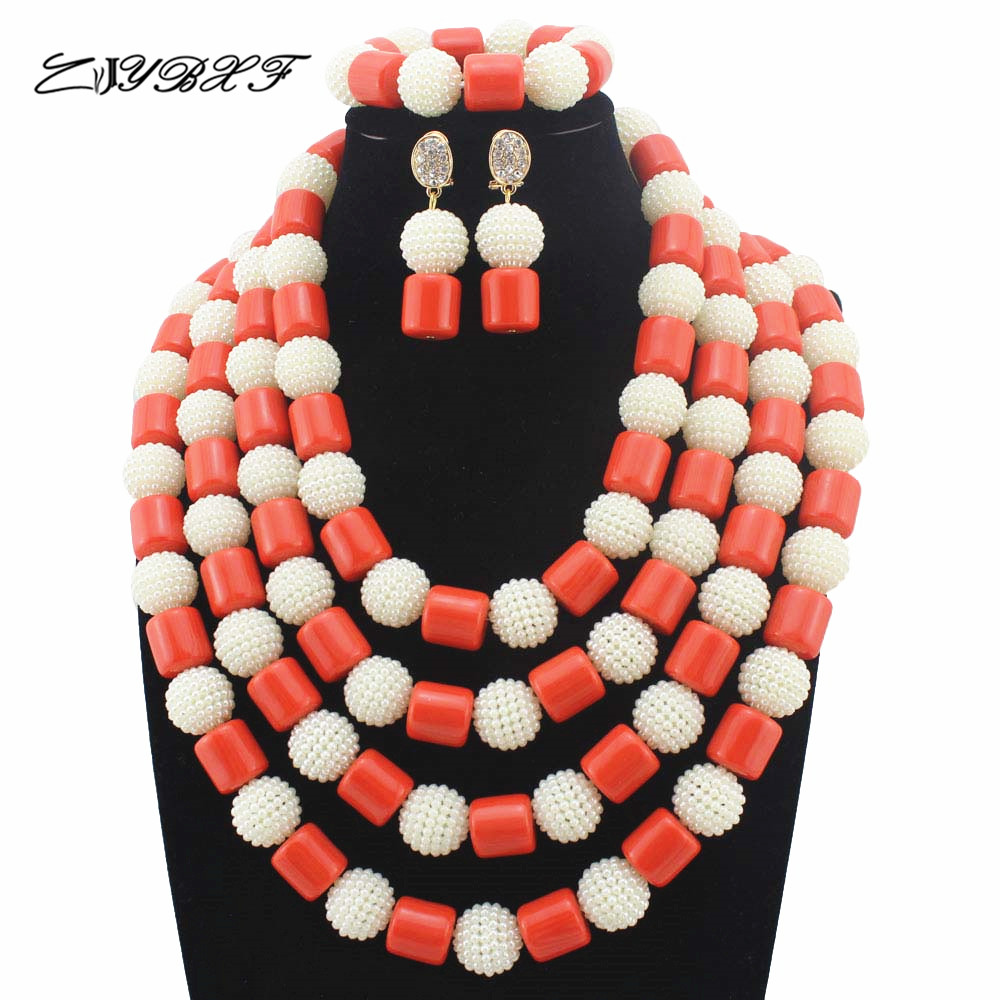 Nigerian Wedding Party: Beautiful White Beads Jewelry Set New Style African