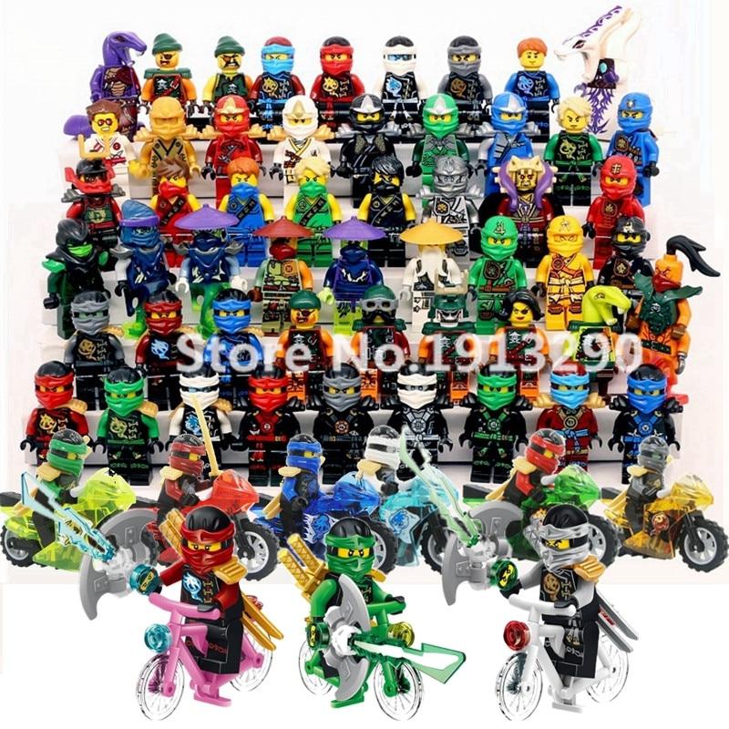 Blocs de construction Ninja brique Cole Kai Jay Lloyd Nya Skylor Zane Pythor Chen figurines Ninjagoed enfants jouet Compatible l