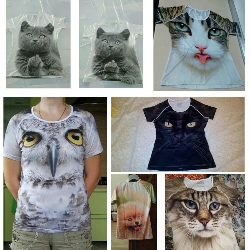 Fashion 3D Cat Print T-Shirt