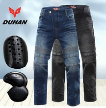 DUHAN Stretch Motorcycle Racing jeans Moto Riding pants Locomotive Hockey Pants Male Knight Equipment Slow rebound
