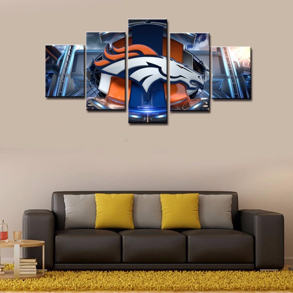 New 10 denver broncos wall decor decorating design of 19 for Denver broncos bedroom ideas