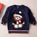 Nova Unisex outono inverno infantil camisola criança camisola do bebê Dos Desenhos Animados da menina do menino crianças pull-over camisola