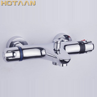 Free Shipping Wall Mounted Two Handle Thermostatic Shower mixer Thermostatic faucet , Shower Taps Chrome Finish,YT 5305 B