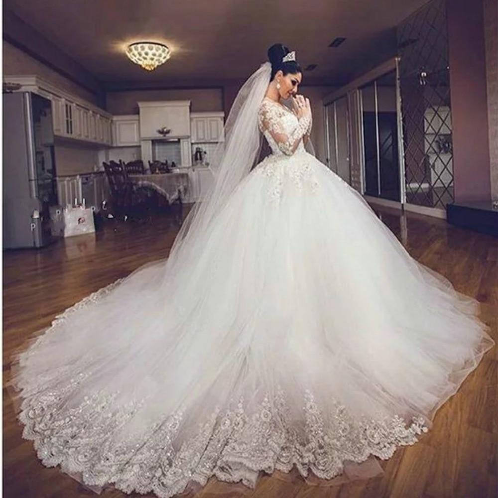 vestido de noiva ball gown princess wedding dress bead lace luxury bruidsjurken rrobe de mariage long
