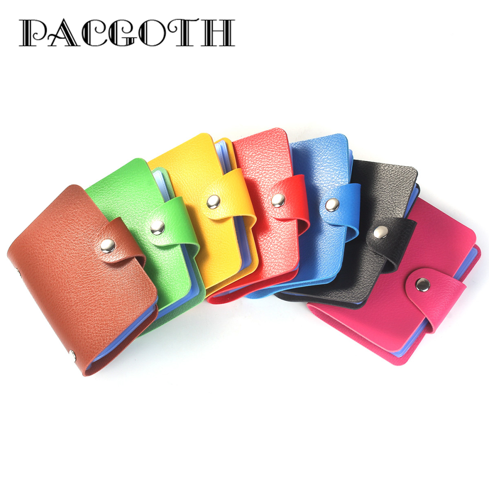 24 Cards Pu Leather Credit ID Business Card Holder Pocket Wallet Purse
