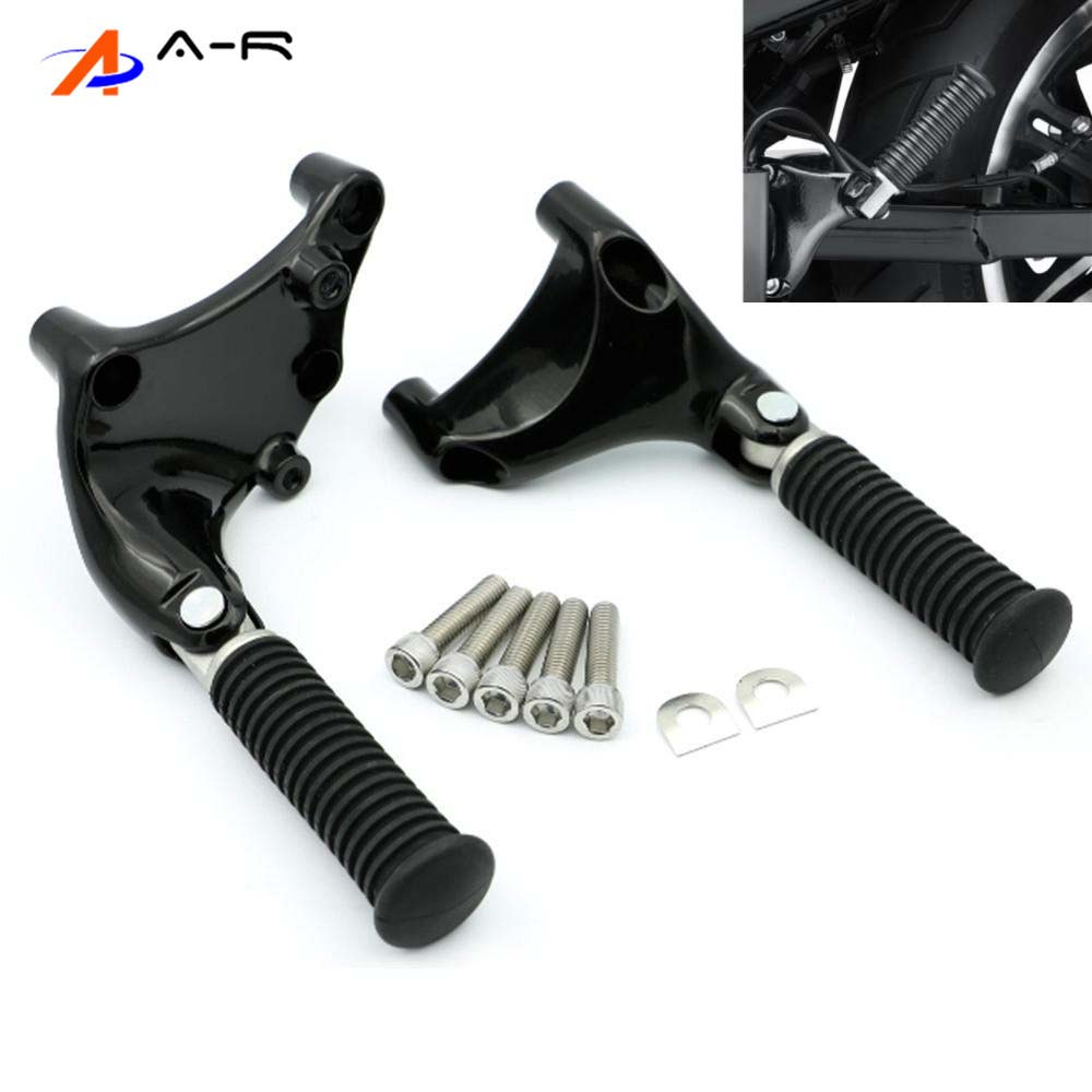 1 pair foot peg Black Black Motorcycle Pedal Rear Passenger Foot Rests Footrests Foot Pegs Footpegs For 2004-2013 Harley Sportster 883 1200 XL 05 06 07 08