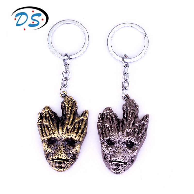Wholesale Movie Jewelry Guardians of the Galaxy Keychain Grout Tree Man Pendants Key Ring Key Chain chaveiro