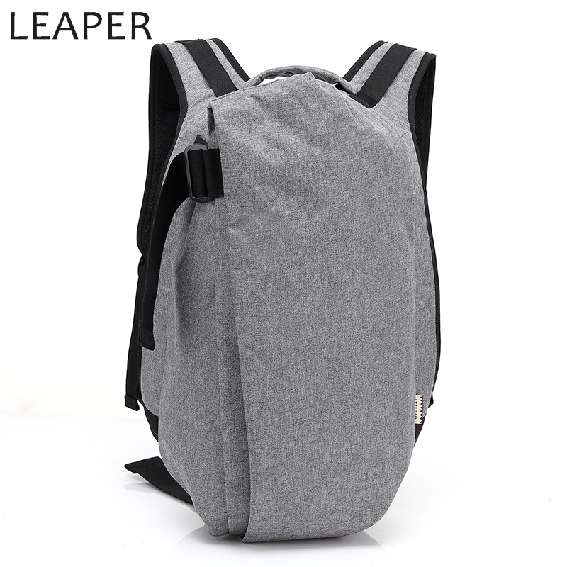 LEAPER Large Capacity 15.6 Inch Laptop Man Bag Backpack USB Anti-thief Solid School Ruck ...