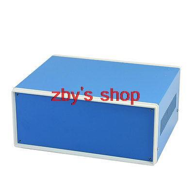 цена на Blue Metal Electrical Switch Protector Junction Box Case 230x185x100mm