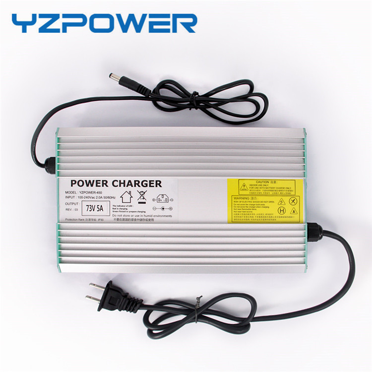 YZPOWER CE ROHS 54.6V/52.65 4A Smart Lithium Battery Charger For 48V Lipo Li-ion Electric Bike Power Tool With Cooling Fan