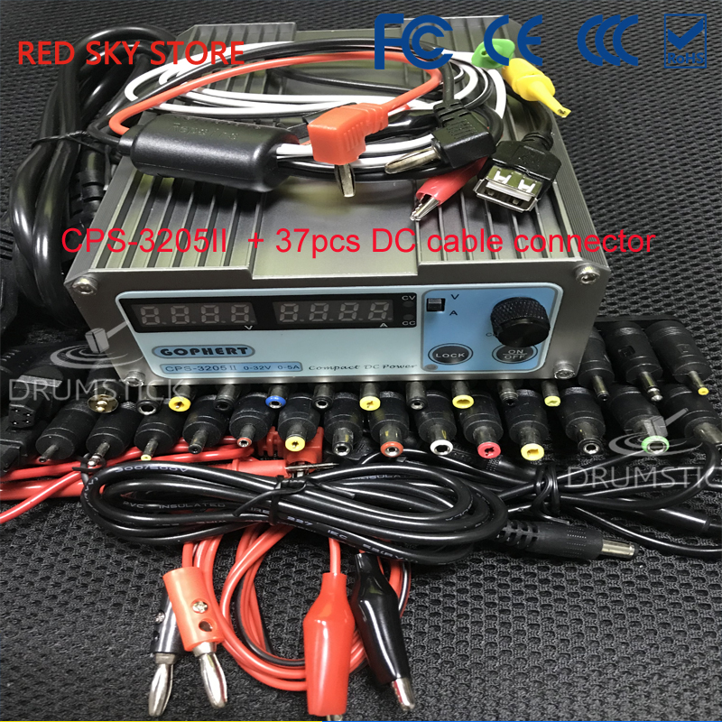 Gophert CPS-3205II DC Switching Power Supply Single Output 0-32V 0-5A 160W adjustable cps 3205ii compact mini variable adjustable dc power supply 0 32v 0 5a ac110 240v