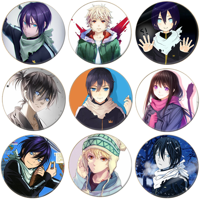 1pcs Anime Noragami Aragoto Yato Cosplay Badge Iki Hiyori Brooch Pin Yukine Collection Badge For Backpack Clothes