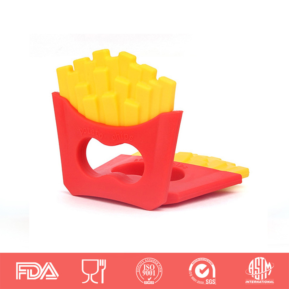 Baby Teether Fries Shaped Pacifier Food Grade Silicone Teething Nursing Massage Mother & Kids Baby Teethers