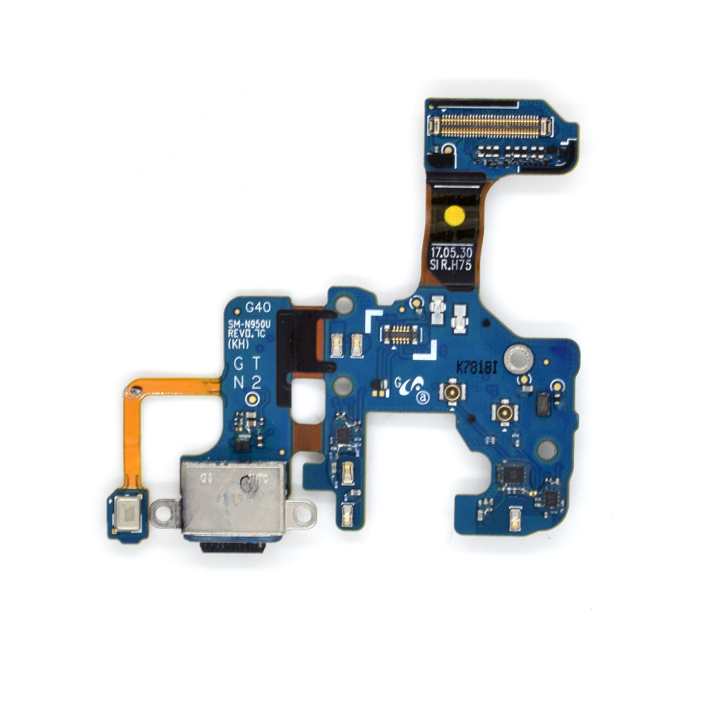 <font><b>Cell</b></font> <font><b>Phone</b></font> Replacement Part for Samsung Galaxy Note8 N950U Charging Port Plug Flex Cable + <font><b>Microphone</b></font>