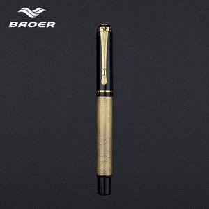 Image 2 - Baoer507 כדורי עט Rollerball עט מתנת Caneta ג ל עט יוקרה מתנת מכתבים מובלטים יפה 0.5mm שחור למשוך כיסוי עט Baoer507 עט כדורי עט רולרבול עט מתנה Caneta ג ל עט יוקרה מתנה מכתבים יפה embossed 0.5mm שחור משוך כיסוי עט