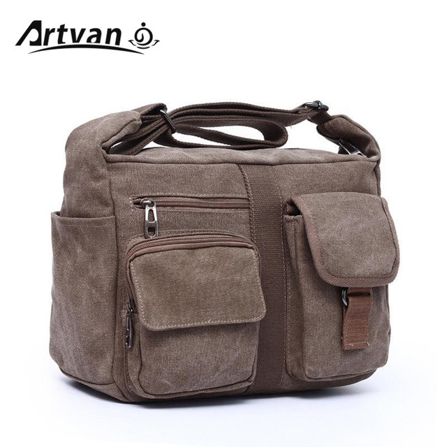 7e29675661dd 2018 new canvas bag handbag men women oblique satchel bags men messenger  bag shoulder bagmore sturdy