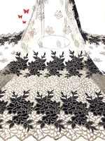 Últimas telas de encaje nigeriano rojo 2019 tela de encaje africano de tul de alta calidad vestido de novia tul francés Material de encaje RF366