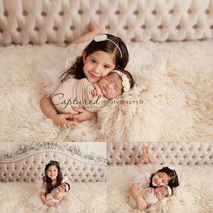 Image 3 - Funnytree zagłówek fotografia tła biały adamaszek noworodka rodzina bedhead tło do studia fotograficznego photocall photophone