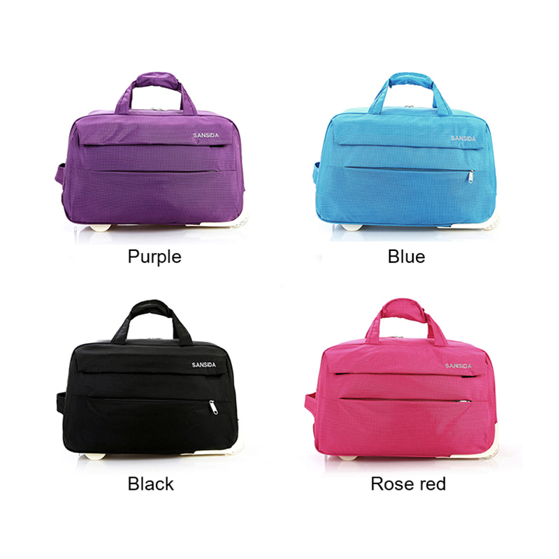 Simple Large Capacity Trolley Bag Men 39 s Travel Bag Casual Ladies High Quality Wheel Aircraft Bag Retractable Lever in Travel Bags from Luggage amp Bags