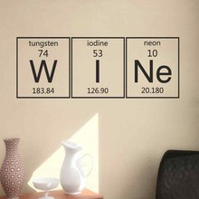 Periodic Table Wine Elements Wall Sticker Vinyl Lettering Decals Dining Room Kitchen Art Home Decor