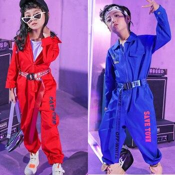 Meninas jazz moderno dança trajes ternos roupas crianças crianças hip hop roupas de dança vestir trajes de palco roupas de coverall