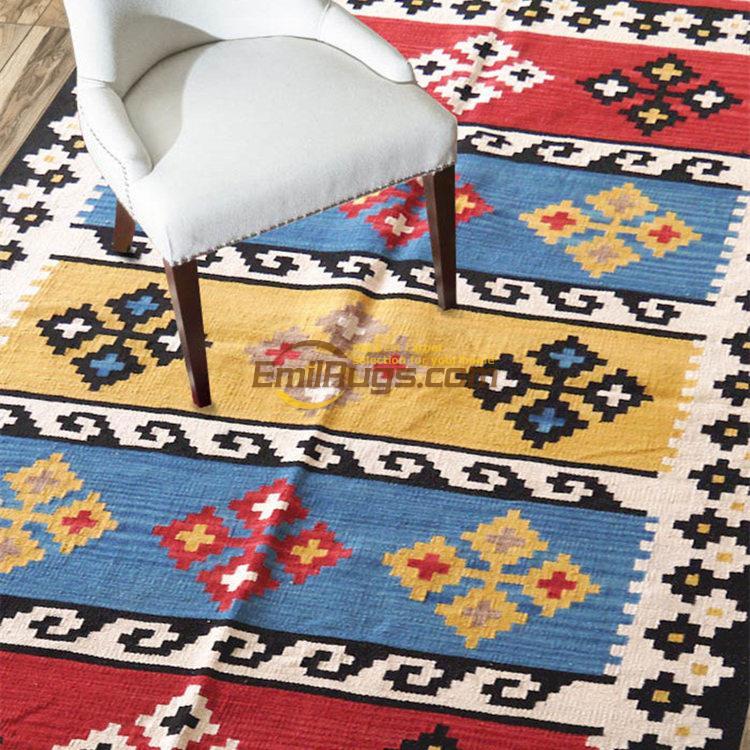 Nietypowy Okaz Japoński styl ręcznie tkane wełny dywan Kilim dywan/125*185 cm NF41