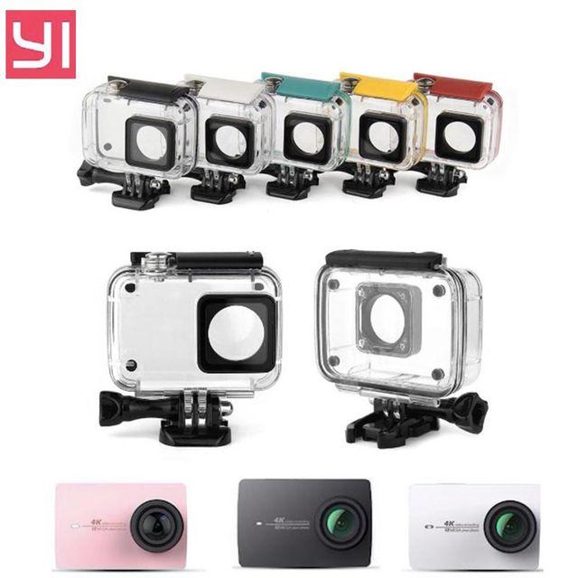 2016 для Xiaomi Yi 4 k Аксессуары Водонепроницаемый Дайвинг Корпус для Xiaomi Yi 2 4 k Действий Камеры