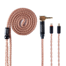 AK Hifihear 16 ядерный импортный одиночный Кристальный медный кабель 2,5/3,5 мм балансный кабель с разъемом MMCX/2pin для TRN X6 KZZSN CCA A10
