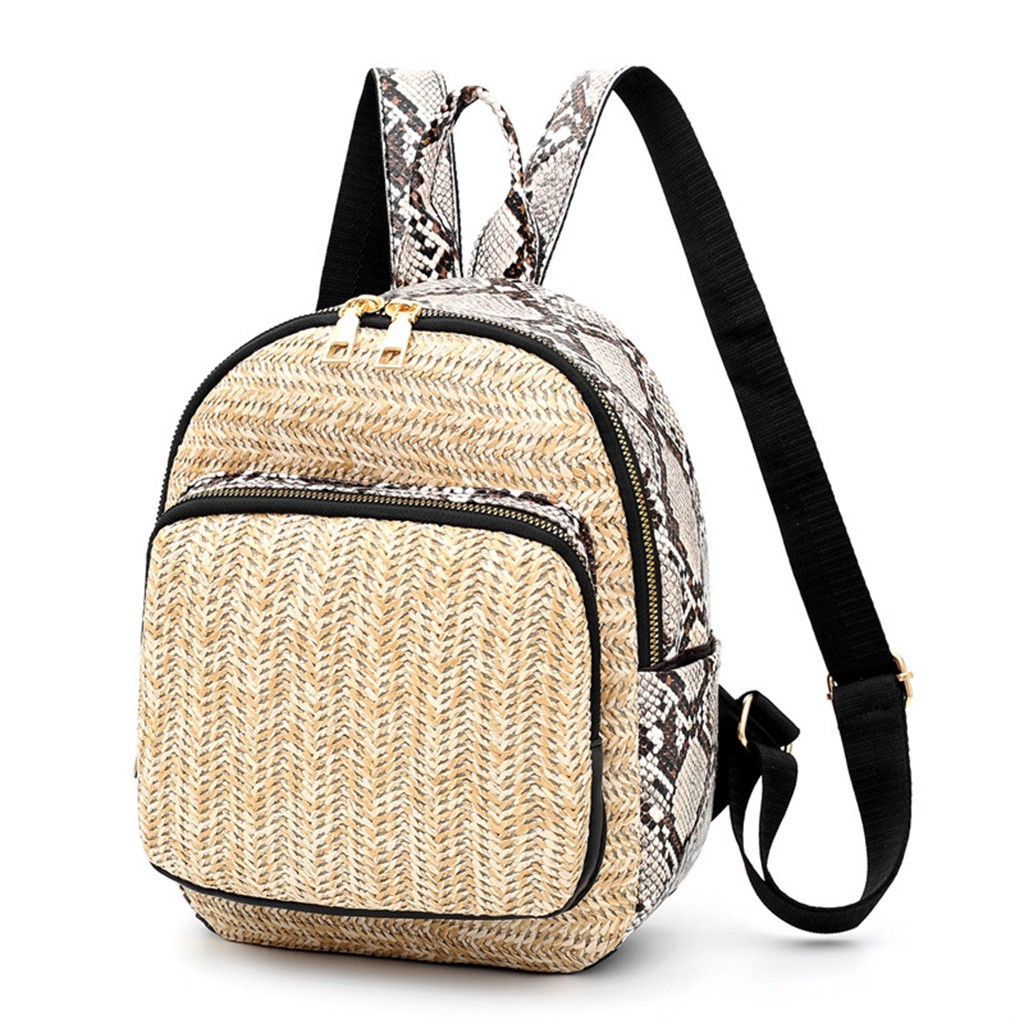 Herald Fashion Straw Woven Backpack Women Back Pack Summer Teenage Girl Quality Backpacks Travel Bags Books Rucksack Drop Ship(China)