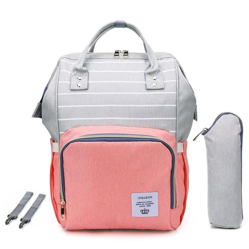 HTB1E E acvrK1Rjy0Feq6ATmVXag LEQUEEN Fashion USB Mummy Maternity Diaper Bag Large Nursing Travel Backpack Designer Stroller Baby Bag Baby Care Nappy Backpack
