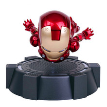 IRON MAN MK MAGNETIC FLOATING ver. with LED Light Iron Man Action Figure Collection Toy RETAIL BOX