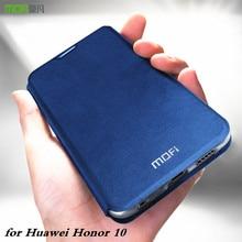 Оригинальный флип чехол MOFi для Huawei Honor 10, мягкий чехол для Honor 10, чехол из искусственной кожи для Honor Book, ТПУ, силиконовый чехол